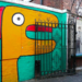 Monster at the gate in Shoreditch, by redpopcreative