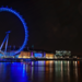 London Eye lit up in blue, by Tony on Flickr