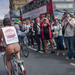 Hundreds of cyclists took to the streets of London on the 9th of June for the World Naked Bike Ride 2014 event. London, Uk.