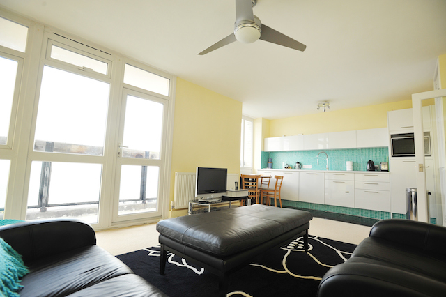 Take in a view of the Thames and Canary Wharf from this flat in Bermondsey
