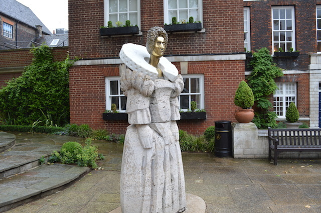 DOCTOR WHO BADDIE? This hilarious statue of Elizabeth I stands in the grounds of Westminster School. It's made from stone, brass and possibly a giant Polo mint. The modern-day Queen unveiled the 8ft non-likeness of her predecessor in 2010, to mark the School's 450th birthday. Prince Philip was seen to snigger as the work by sculptor Matthew Spender was revealed.