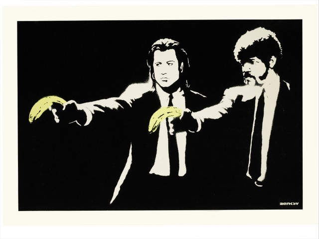 Banksy, Pulp Fiction. 2004.