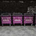 Purple dustbins, by PhropecyBlur