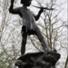 This bronze Peter Pan statue is located in Hyde Park, specifically Kensington Gardens, which author J.M. Barrie used as inspiration for his tale about the boy who never grew up. Barrie himself commissioned the statue, which was created by Sir George Frampton and unveiled in 1912, 10 years after the first story of Peter Pan was published. The base of the statue is a tree trunk, with rabbits and fairies clambering over it.