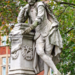 Monuments to Shakespeare are plentiful in London, but perhaps the most famous (and certainly the one that gets most passing foot traffic) is this one slap bang in the middle of Leicester Square. Will was removed briefly for a spit and polish as part of a spring clean of the entire area, but resumed his usual position in Autumn 2013, and has been rueing the arrival of M&Ms World to the area ever since.
