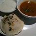 Idli, sambhar and coconut chutney: part of the royal London thali.