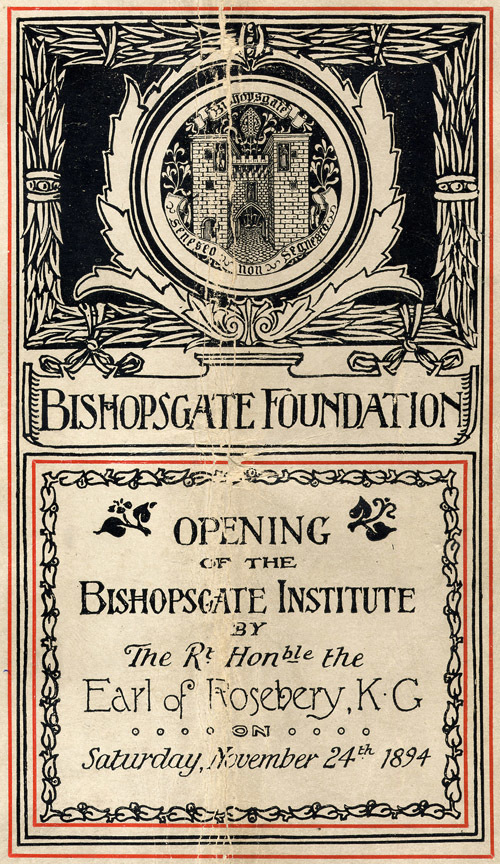 Bishopsgate Institute: New Courses Celebrate 120 Years Of Learning