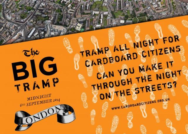 Tramp Round London At Night For Cardboard Citizens