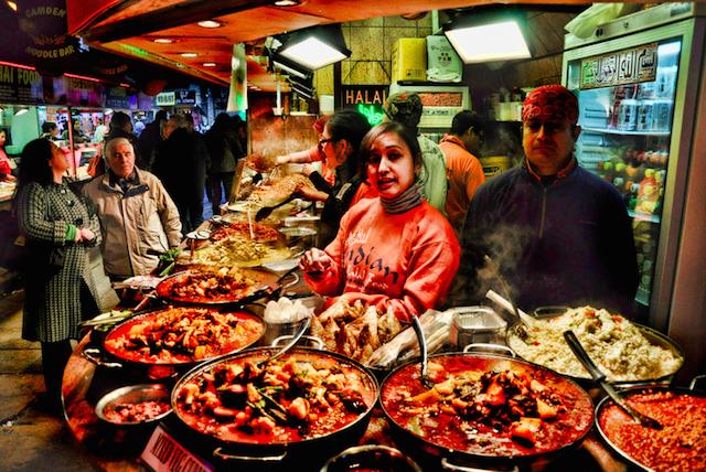 Street food in Camden, by Martin Pinker