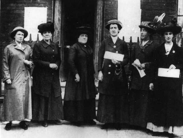Deputation to 10 Downing St, June 1914, Norah Smyth. Photo provided by East London Suffragette Festival.