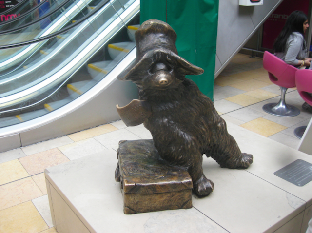 One of London's most famous fictional residents, Paddington Bear is immortalised in this bronze statue by Marcus Cornish in Paddington Station. Michael Bond's first book about the bear from darkest Peru was published in 1958, based on a lone teddy bear that Bond saw on a shop shelf near the station. The statue was created in 2000. Give him his due -- he heeds National Rail's advice of not leaving his luggage unattended.
