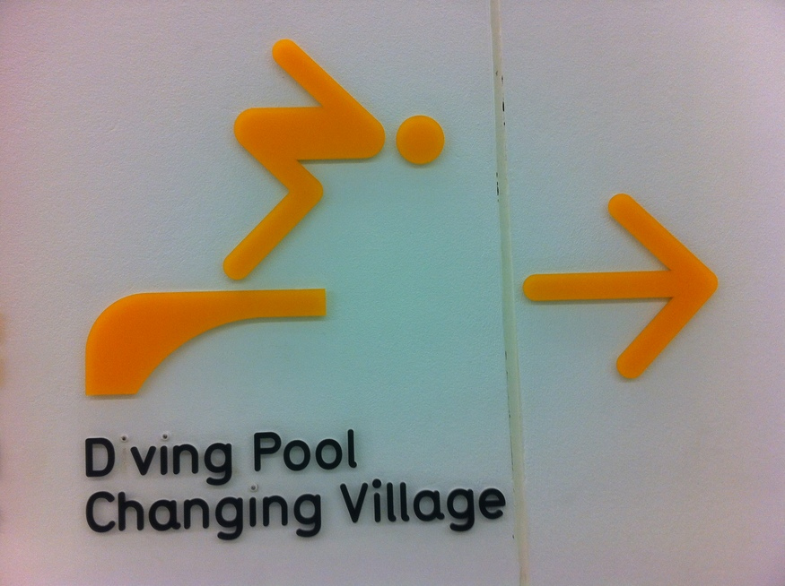 Signage At London Aquatics Centre Is Already Falling Apart