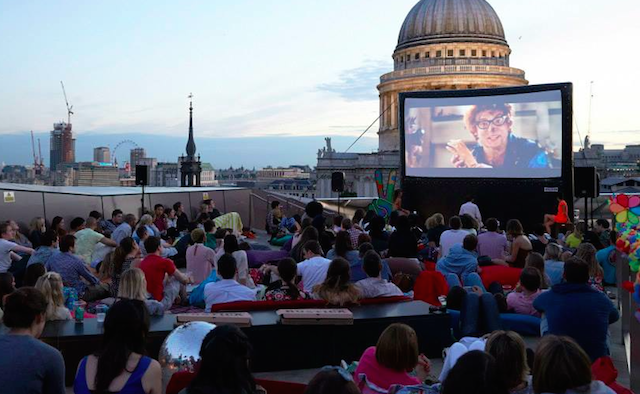 Exclusive Members' Club Opens Rooftop Cinema