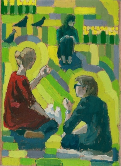 Relaxing In Russell Square: Summery Paintings By Andy Parker