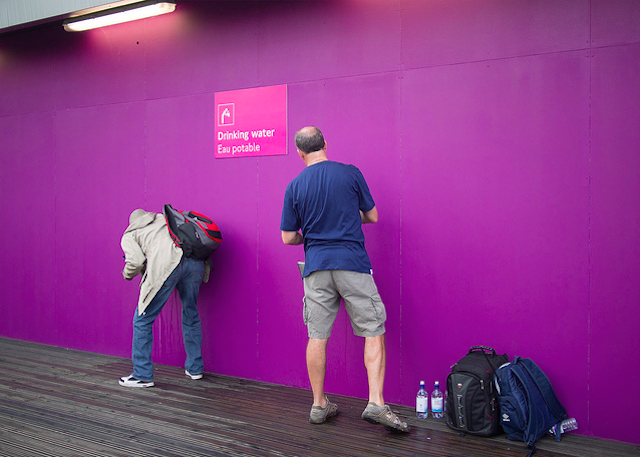 Purple wall in Stratford, by Magic Pea
