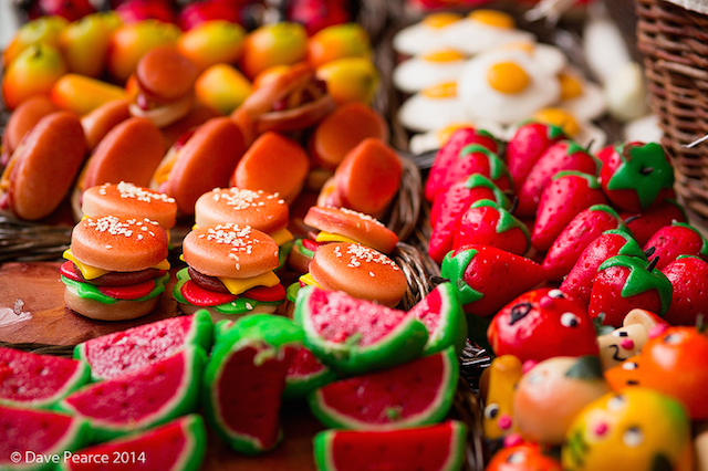 Sweet burgers at the Streets of Spain food festival on the Southbank. By Dave Pearce