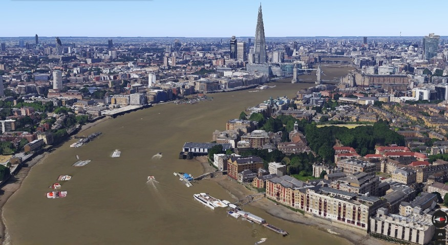 Google Maps London In 3D
