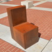 Perhaps the artist's most commonly seen but rarely recognised work is this unassuming chair in the forecourt of the British Library. Commissioned for English Penn's 90th anniversary in 2011 is called Witness, and faces the artist's Planets sculpture also in the forecourt.