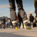 Mark Davies on inline skates