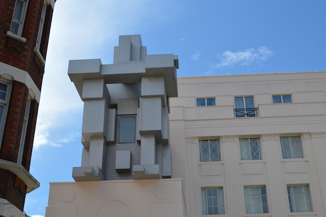 London's newest work by Antony Gormley -- a humanoid hotel room at the  Beaumont Hotel.