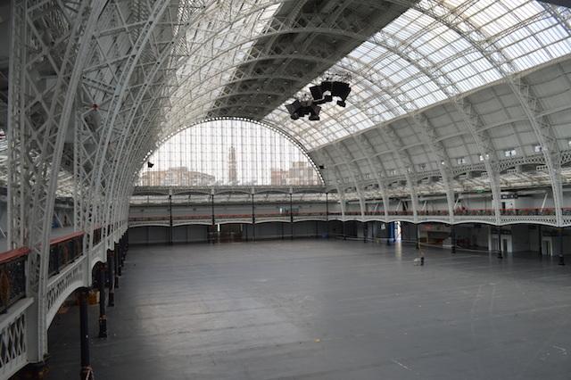 Inside the main hall.