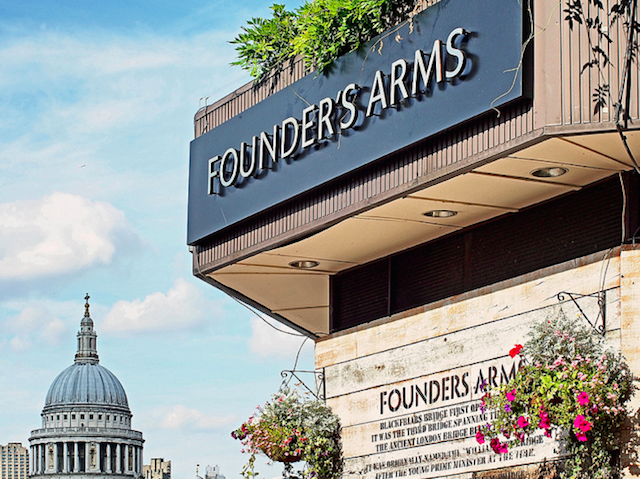 Founders Arms on Bankside by markdbaynham