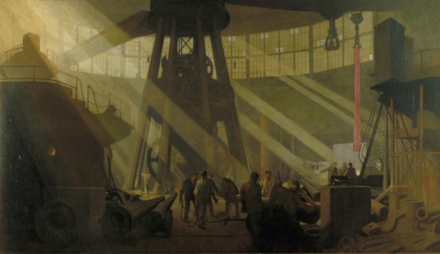 George Clausen, In the Gun Factory at Woolwich Arsenal, 1918. Copyright IWM
