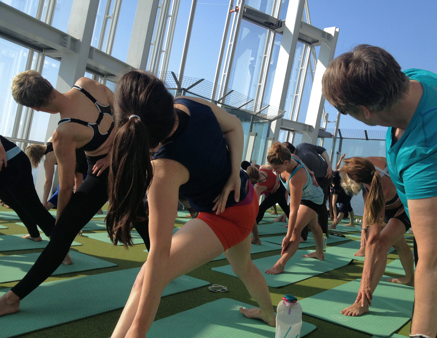 Yogasphere atop The Shard