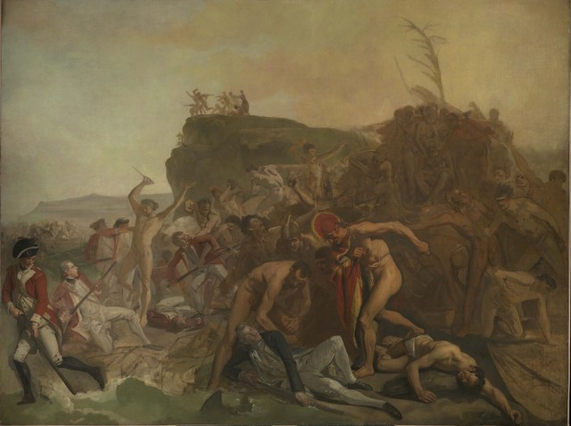 The Death of Captain James Cook, 14 February 1779	 by Johan Zoffany, c.1798 Oil on canvas National Maritime Museum, London