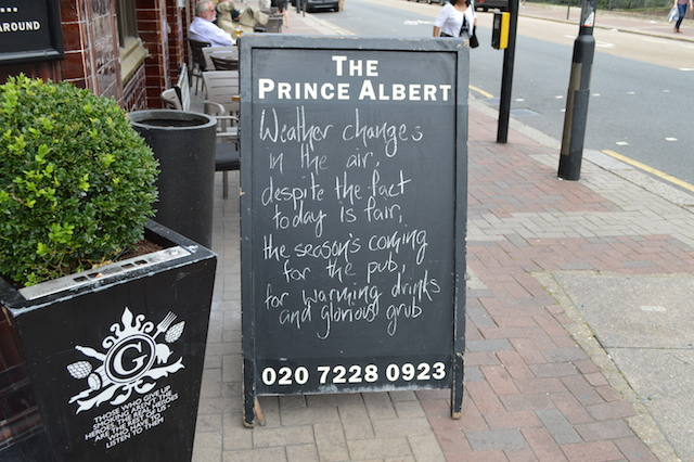 London's Best Pub Chalkboards