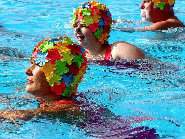 Synchronised Swimming Comes To Brockwell Lido
