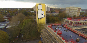 Stik Paints World's Tallest Street Artwork