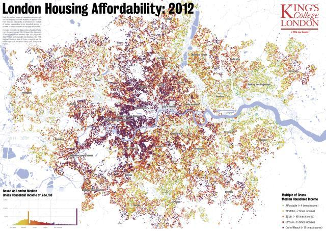 Mapped: The Decline Of London's Housing Affordability