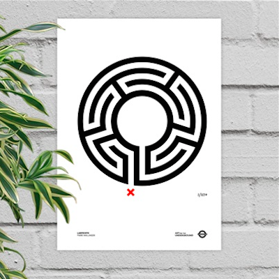 London Gift Guide: London Underground Labyrinth Poster