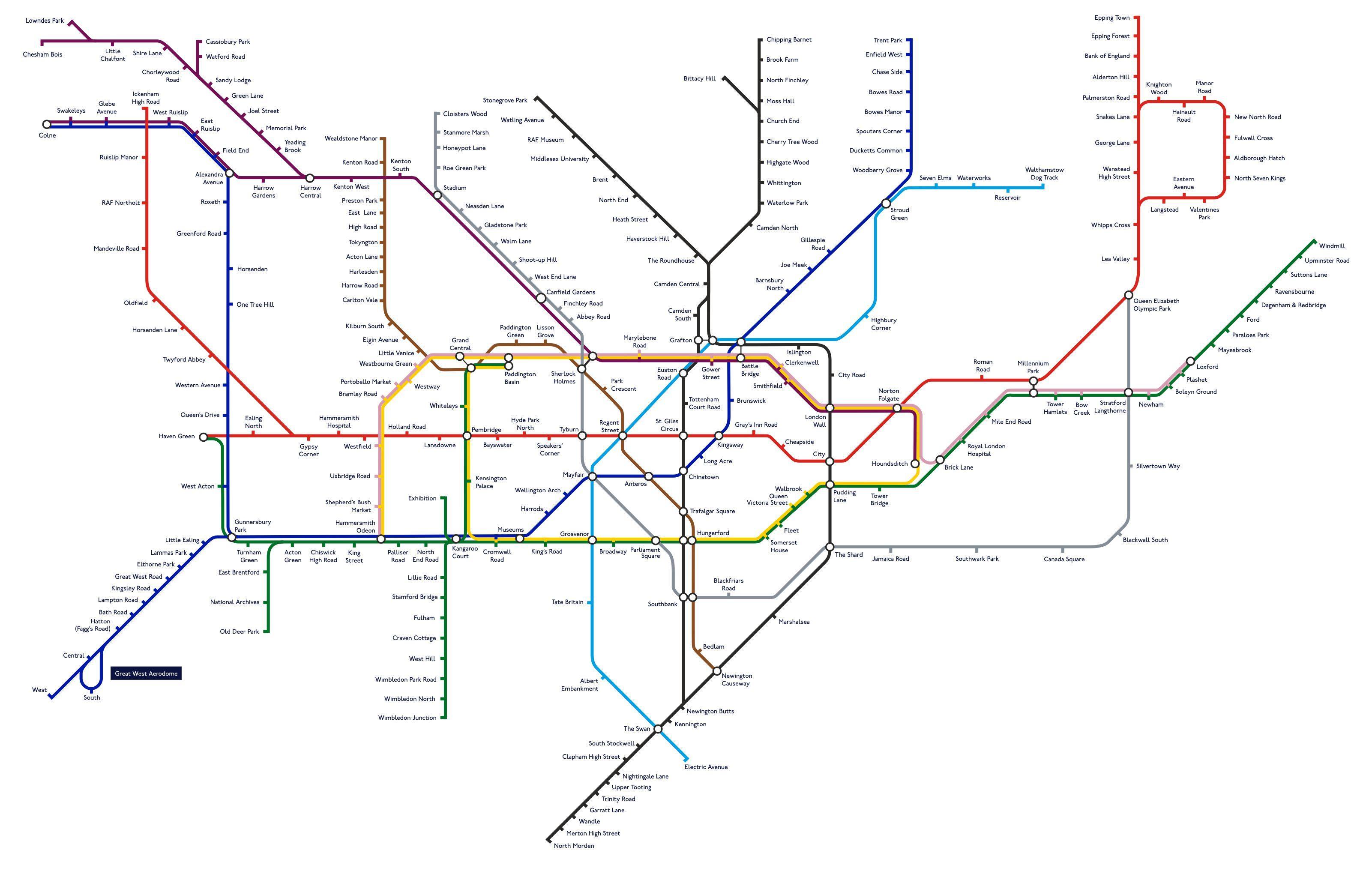 all 270 london tube stations renamed