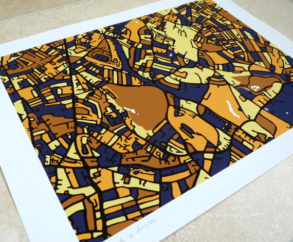 London Gift Guide: Bright Map Prints