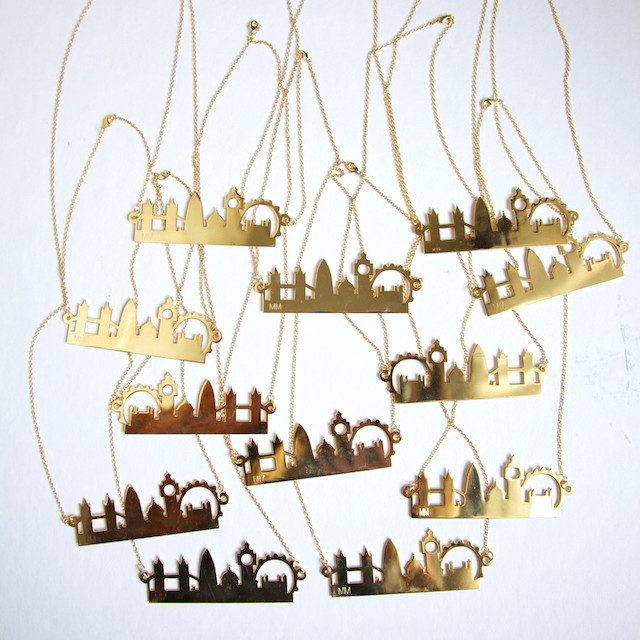 London Gift Guide: London Skyline Necklace
