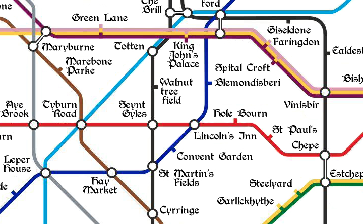 The Medieval Tube Map