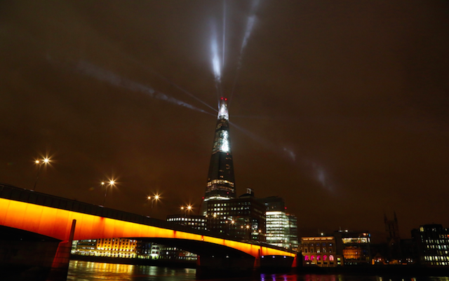The Shard Is Being Lit Up Every Night Until New Year