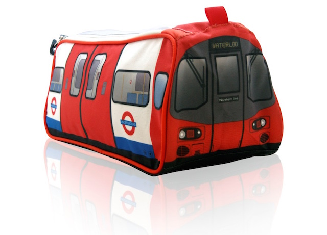 London gift guide tube train washbag londonist this london underground themed washbag is shaped and designed like a tube carriage a northern line one to be precise and is perfect negle Image collections