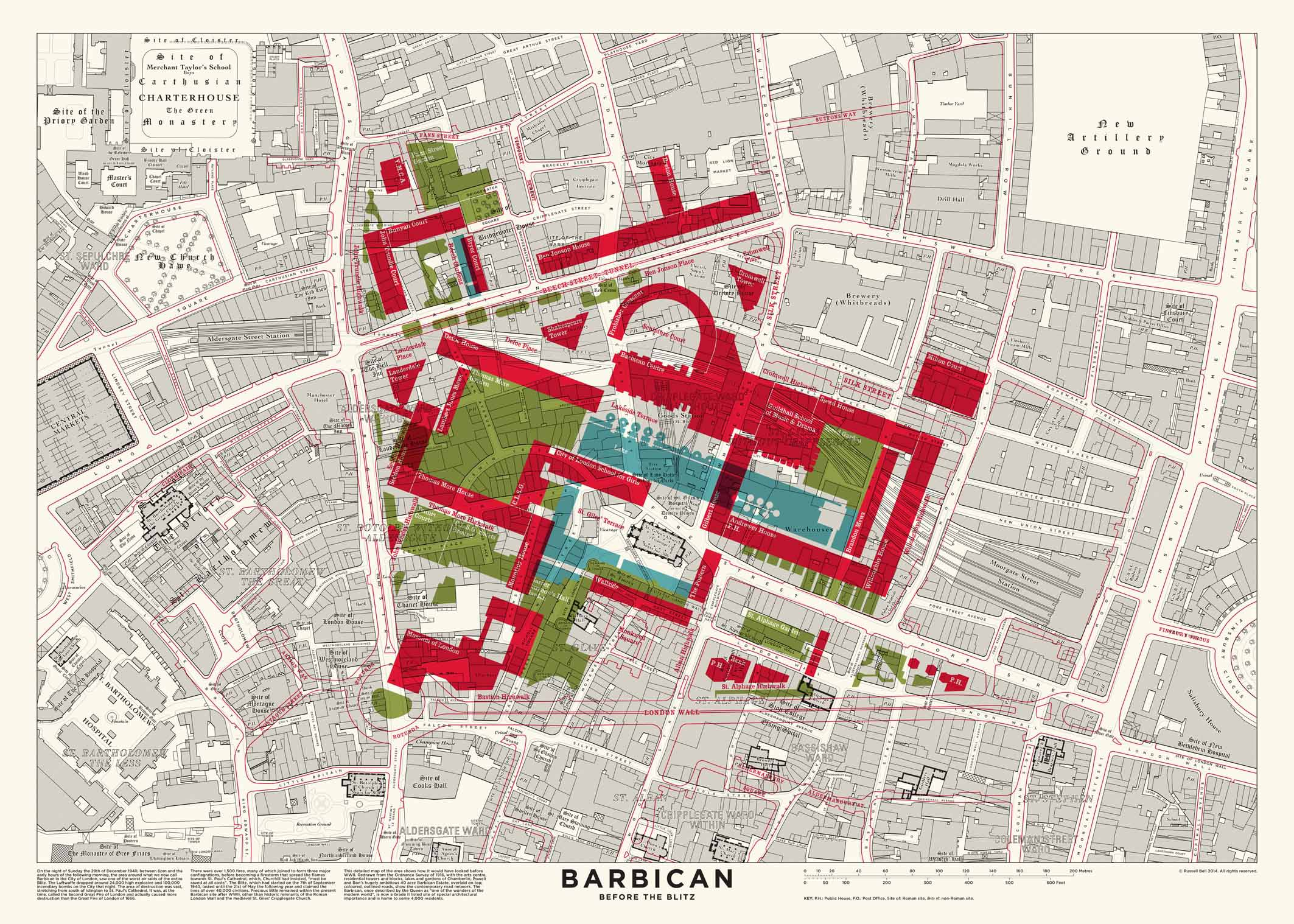 Terrace Floor Plans Mapped Barbican Before The Blitz Londonist
