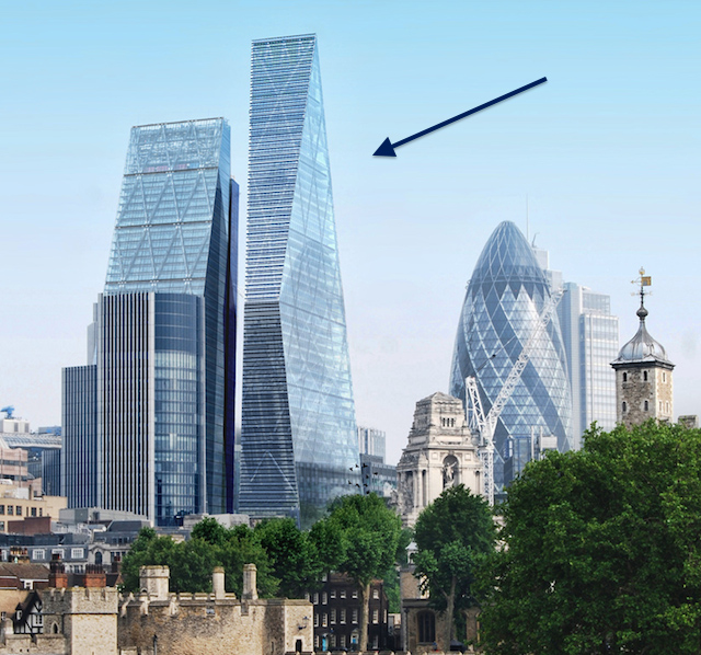 Could london get a double cheesegrater tower londonist for Building londre