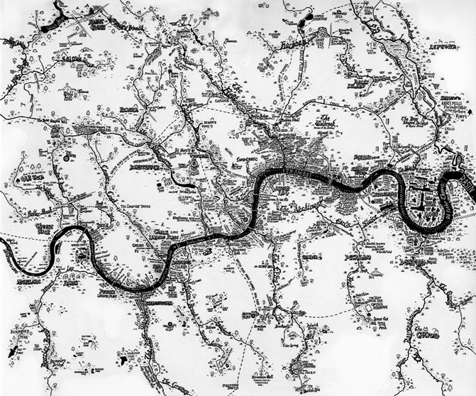 All London's rivers in one map.