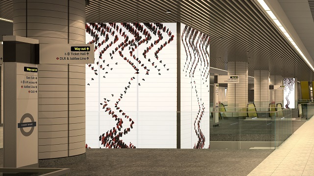 Hypnotising Video Art For Canary Wharf's Crossrail Station