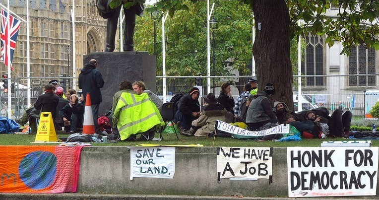 Occupy Wins Parliament Square Fence Stand-Off