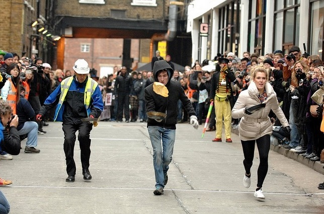 Pancake Race To Raise Funds For London's Air Ambulance