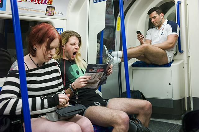 In Pictures: No Trousers On The Tube Day 2015