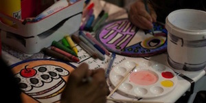 Kids Colour Their Dinner Plates At Hand-Drawn Camden Cafe