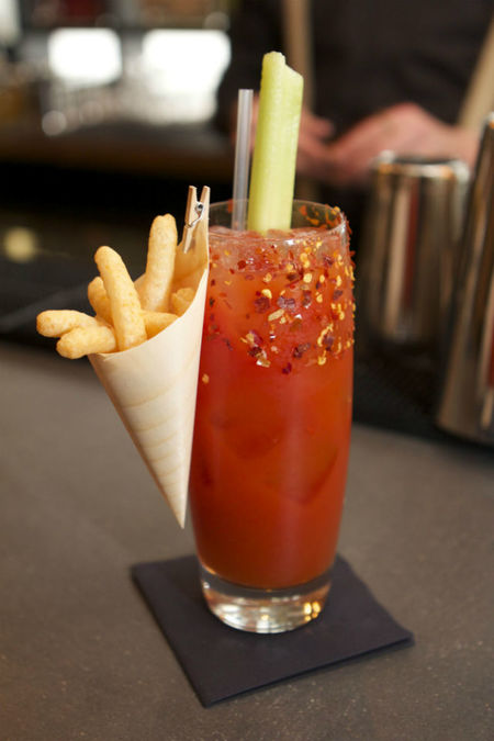 Kimchee Bloody Mary - Jinjuu London's Best Cocktails to Cure Your Hangover