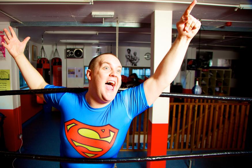 Lardo Slams Some Real Wrestling Action